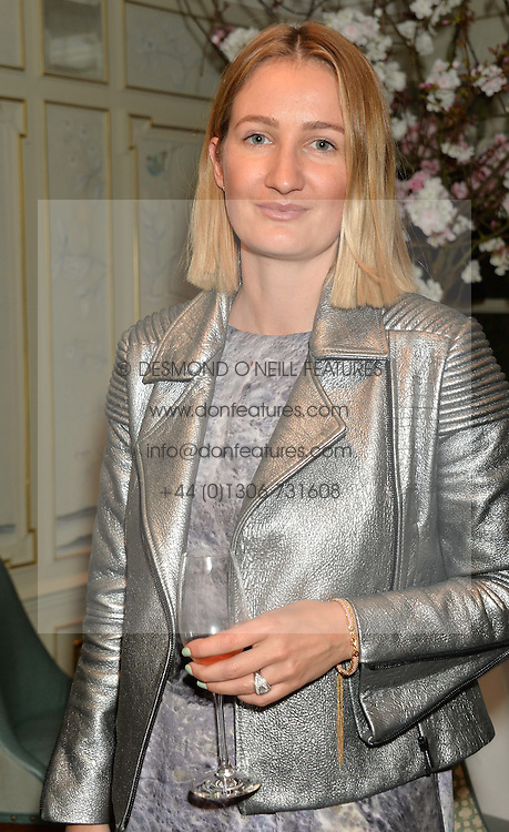 Fashion designer ZOE JORDAN at the launch of Mrs Alice in Her Palace - a fashion retail website, held at Fortnum & Mason, Piccadilly, London on 27th March 2014.