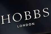 Sign for clothes shop Hobbs.