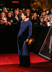 Host Emma Willis  poses with fans on the red carpet before the Blind Auditions begin for the new series of  The Voice on ITV.