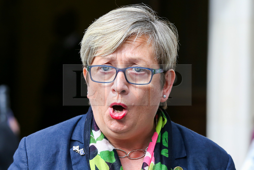 © Licensed to London News Pictures. 24/09/2019. London, UK. Joanna Cherry QC MP - SNP MP for Edinburgh South West a statement outside Supreme Court in London after the court ruled that the Prime Minister Boris Johnson's decision to prorogue Parliament is unlawful. Last week the court heard an appeal in the multiple legal challenges against the Prime Minister Boris Johnson's decision to prorogue Parliament ahead of a Queen's speech on 14 October.  Photo credit: Dinendra Haria/LNP