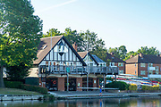 Maidenhead, Berkshire, UK., 29th May 2020, Maidenhead RC, COVID 19, Training, Only private-owned Single Sculls,  General View, scullers Maidenhead RC., Boathouse. <br /> <br /> All athletes, Juniors,  Masters, have to observe Social Distancing,<br /> [© Peter Spurrier/Intersport Images],