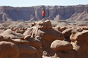 SHOT 10/19/16 2:11:00 PM - Emery County Utah tourism photos including hiking and exploring Goblin Valley including an arch rappel, the Black Dragon Canyon and  mountain biking Saucer Basin with Lamar Guymon. (Photo by Marc Piscotty / © 2016)