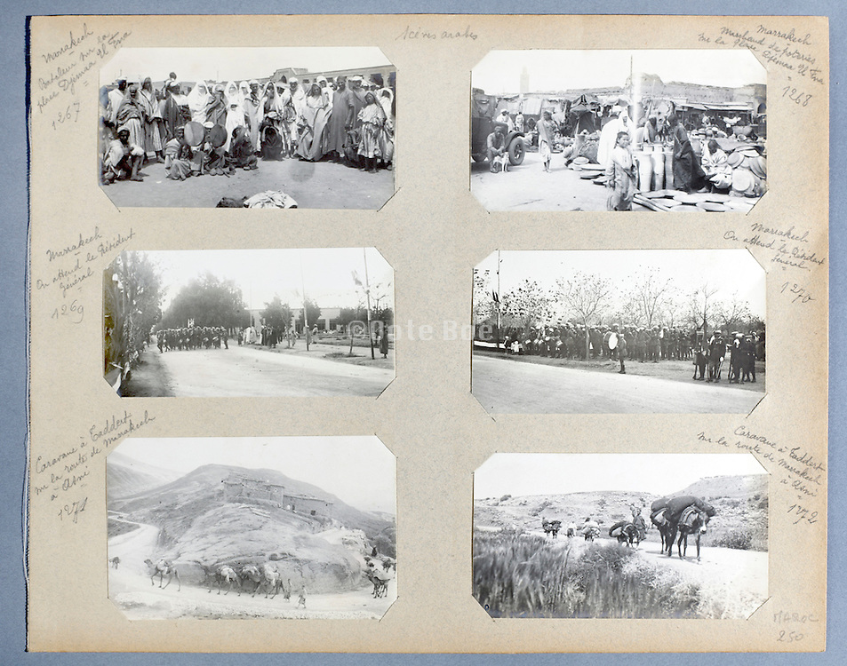 early 1900s photo album with a trip through Morocco and the city Marrakech