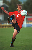 Trond F. Ludvigsen, U21H. Norge U21H - Armenia U21H 5-1. U21 herrer 2000. 1. september 2000. (Foto: Peter Tubaas/Fortuna Media)