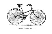 Cross Frame Safety From Wheels and Wheeling; An indispensable handbook for cyclists, with over two hundred illustrations by Porter, Luther Henry. Published in Boston in  1892