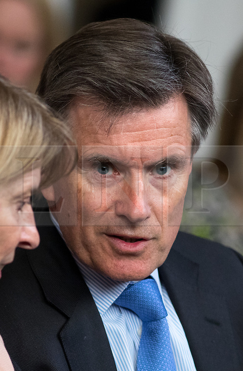 © Licensed to London News Pictures. 19/04/2017. London, UK. Former Chief of the Secret Intelligence Service JOHN SAWERS arrives at The Royal United Services Institute (RUSI) panel discussion on aid, security and broader British national interests. Photo credit : Tom Nicholson/LNP