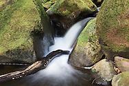 Moderately long-exposure shots of flowing water at Padley Gorge, Dark Peak, Peak District National Park
