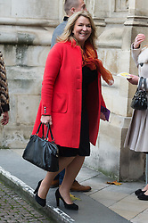 © Licensed to London News Pictures. 24/11/2016. FERN BRITTON attends a Service of Thanksgiving at Westminster Abbey to celebrate the Diamond Anniversary of The Duke of Edinburgh's Award (DofE). London, UK. Photo credit: Ray Tang/LNP