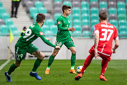 Andrejasic Jan of NK Olimpija Ljubljana and Suljic Asmir of NK Olimpija Ljubljana vs +m37 during football match between NK Olimpija Ljubljana and NK Aluminij in Round #27 of Prva liga Telekom Slovenije 2018/19, on April 14th, 2019 in Stadium Stozice, Slovenia Photo by Matic Ritonja / Sportida