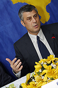 Thaci and Faith encourage Municipality of Gjilan to begin the process of decentralization<br /> Gjilan, Kosovo<br /> Friday, November 07, 2008<br /> The leaders of the Government of Kosovo and the International Civilian Office said today in Gjilan that the decentralization will be easier and more successful if all communities and political parties are involved in this process.<br /> In a public conversation with Gjilan citizenís they do understand that than more than 30,000 citizens of Gjilan are against the decentralization process, regarding to a signed petition organized by the local political parties, leaded by Kosovo Self-Determination movement in 2007.<br /> PICTURED: Kosovo PM Hashim THACI<br /> Vedat Xhymshiti / ZUMA Press