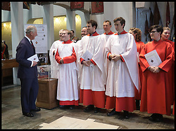 November 13, 2016 - London, United Kingdom - Image ¬©Licensed to i-Images Picture Agency. 13/11/2016. London, United Kingdom. Prince Charles Remembrance Sunday. ..The Prince of Wales meeting members of the choir in The Guards' Chapel in Wellington Barracks, London where a service was held for the Welsh Guards' Regimental Remembrance Sunday...Picture by i-Images / Pool (Credit Image: © i-Images via ZUMA Wire)