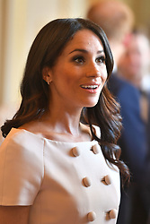 The Duchess of Sussex during a reception at the Queen's Young Leaders Awards Ceremony at Buckingham Palace, London.