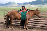 A man and his horse, Nadaam, Mongolia