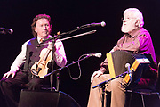 **NO REPRO FEE** Frankie Gavin with Joe Burke at Glor during the Fleadh in Ennis on Monday. Photograph by Eamon Ward