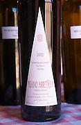 A bottle of Pisano Arretxea Grand Reserva Vino Tinto red wine 2002. Bodega Pisano Winery, Progreso, Uruguay, South America