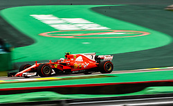 November 11, 2017 - Brazil - SAO PAULO, SP - 11.11.2017: QUALIFYING PARA GP F1 - In the photo the pilot, Kimi Raikkonen, of Scuderia FERRARI, during free practice in the part of this morning. Classifying training day on Saturday (11), for the Brazilian Formula 1 Grand Prix, which will take place on Sunday (12) at the Jose Carlos Pace racetrack in Interlagos. (Credit Image: © Fotoarena via ZUMA Press)
