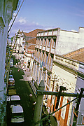 Historic buildings in city centre street of Manaus, Brazil 1962