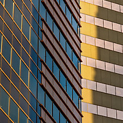 Abstract detail of windows and architecture in downtown Baltimore
