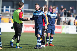Forfar Athletic's Martyn Fotheringham after the final whistle. Forfar Athletic 2 v 4 Annan Athletic, Scottish Football League Division Two game played 6/5/2017 at Station Park.