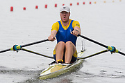 Poznan, POLAND, 21st June 2019, Friday, Morning Heats, SWE2 M1X, Eskil  BORGH, FISA World Rowing Cup II, Malta Lake Course, © Peter SPURRIER/Intersport Images,<br /> <br /> 12:17:00