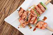 Salmon Teriyaki skewers