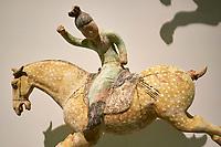 France, Paris (75), Musée Guimet, joueuses de polo, Chine du Nord, dynastie Tang, VIII siècle // France, Paris, Guimet museum, polo player, China, Tang dynasty, 8th century