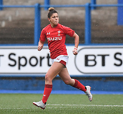 Wales Jess Kavanagh<br /> Wales Women v South Africa Women<br /> Autumn International<br /> <br /> Photographer Mike Jones / Replay Images<br /> Cardiff Arms Park<br /> 10th November 2018<br /> <br /> World Copyright © 2018 Replay Images. All rights reserved. info@replayimages.co.uk - http://replayimages.co.uk