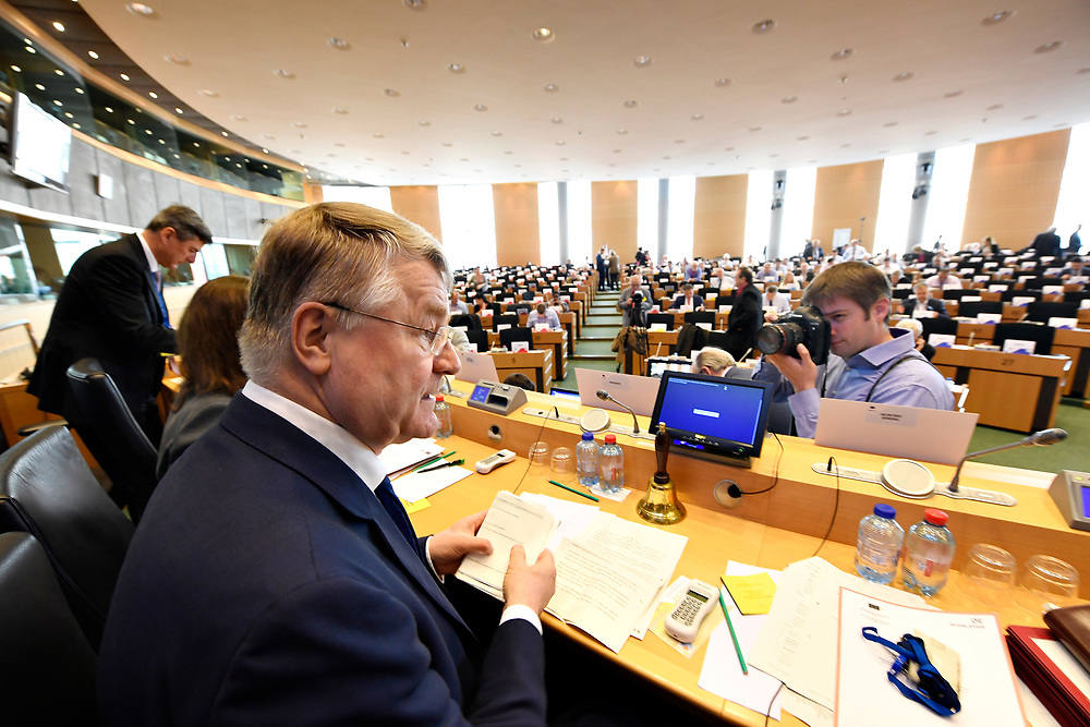12 May 2017, 123rd Plenary Session of the European Committee of the Regions <br /> Belgium - Brussels - May 2017 <br />  <br /> CoR President Markkula<br /> © European Union / Fred Guerdin