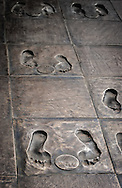 Bronze footprint walkway at i the Nanjing Massacre Memorial