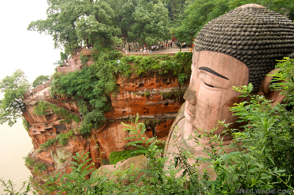 This is the world's largest Buddha carving.  It's found in Leshan, China.