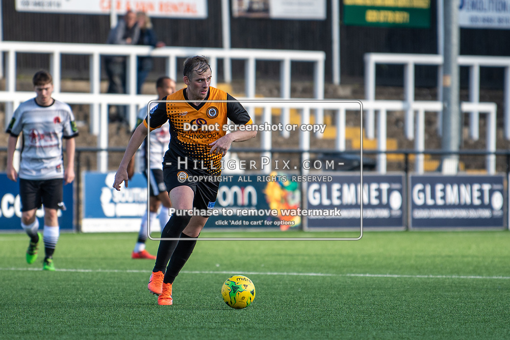 BROMLEY, UK - SEPTEMBER 08: Tom Murphy, of Cray Wanderers FC, during the Emirates FA Cup First Qualifying Round match between Cray Wanderers FC and Bedfont Sports Club at Hayes Lane on September 8, 2019 in Bromley, UK. <br /> (Photo: Jon Hilliger)
