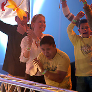 NLD/Hilversum/20070316 - 2e Live uitzending SBS So You Wannabe a Popstar, familie Nelleke van der Krogt, zoon Tom en kinderen