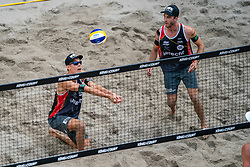 Julius Thole GER, Clemens Wickler GER in action during the third day of the beach volleyball event King of the Court at Jaarbeursplein on September 11, 2020 in Utrecht.