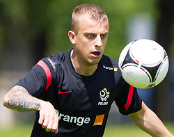 27.05.2012, Dolomitenstadion, Lienz, AUT, UEFA EURO 2012, Trainingscamp, Polen, Training, im Bild Kamil Grosicki (POL) // Kamil Grosicki of Poland during second training of polish National Footballteam for preparation UEFA EURO 2012 at Dolomitenstadion, Lienz, Austria on 2012/05/27. EXPA Pictures © 2012, PhotoCredit: EXPA/ Johann