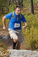 Kernhonkson, New York - Ivan Milan runs along the trail at Minnewaska State Park Preserve during the Shawangunk Ridge Trail Run/Hike 32-mile race  on Sept. 20, 2014.