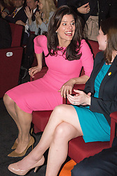 © Licensed to London News Pictures . 15/03/2015 . Liverpool , UK . MIRIAM GONZALEZ DURANTEZ talks to Jo Swinson ahead of Nick Clegg's speech . The Liberal Democrat Party Conference at the Arena and Conference Centre in Liverpool . Photo credit : Joel Goodman/LNP