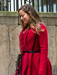 © London News Pictures. 05/03/2016. London, UK. JADE JAGGER attends a ceremony to mark the wedding of Rupert Murdoch and Jerry Hall held at St Brides Church on Fleet Street,  central London on February 05, 2016. . Photo credit: Ben Cawthra /LNP