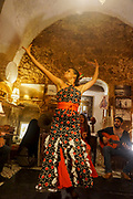 Female Flamenco dancer in a nightclub