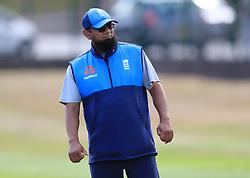 England spin bowling consultant Saqlain Mushtaq during a nets session at Edgbaston, Birmingham.
