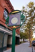 San Jose History Walk Sign, Downtown San Jose, California, USA