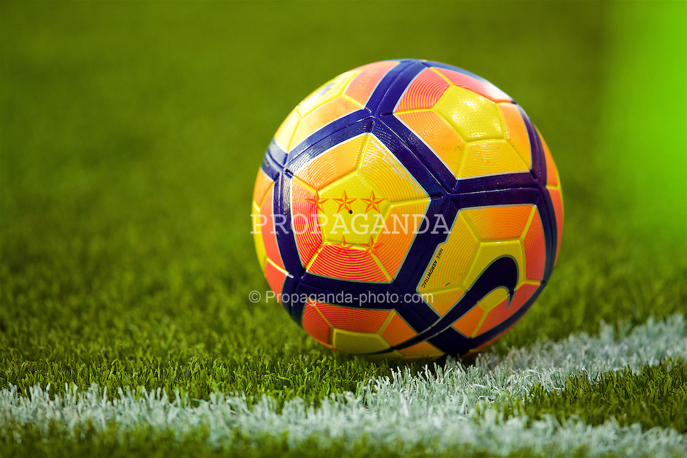 BOURNEMOUTH, ENGLAND - Sunday, December 4, 2016: An orange and yellow ball in the corner quadrant on SISGrass during the FA Premier League match between AFC Bournemouth and Liverpool at Dean Court. (Pic by David Rawcliffe/Propaganda)
