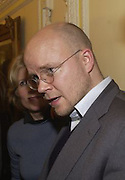 toby Young, Literary Review Bad Sex in Fiction Award. In and Out Club, St. James, Sq. 3 December 2003. © Copyright Photograph by Dafydd Jones 66 Stockwell Park Rd. London SW9 0DA Tel 020 7733 0108 www.dafjones.com