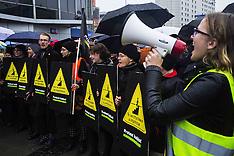 Poland: Polish women strike against abortion ban in Gdansk, 24 Oct. 2016