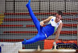 """Saso Bertoncelj at event """"Slovenian Gymnastics stars"""" after the European Championships in Milano, on April 6, 2009, in Hall Slovan, Kodeljevo, Ljubljana, Slovenia. (Photo by Vid Ponikvar / Sportida)"""