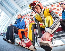 31.12.2013, Olympiaschanze, Garmisch Partenkirchen, GER, FIS Ski Sprung Weltcup, 62. Vierschanzentournee, Training, im Bild Richard Freitag (GER) // Richard Freitag (GER) during practice Jump of 62nd Four Hills Tournament of FIS Ski Jumping World Cup at the Olympiaschanze, Garmisch Partenkirchen, Germany on 2013/12/31. EXPA Pictures © 2013, PhotoCredit: EXPA/ JFK
