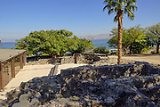 unearthed ruins at Hamat Tverya National Park is an ancient archaeological site and an Israeli national park, On the shore of the Sea of Galilee, Tiberias, Israel