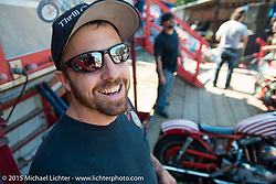 Donnie of the California Hell Riders Wall Of Death at the Iron Horse Saloon during the 2015 Biketoberfest Rally. Ormond Beach, FL, USA. October 17, 2015.  Photography ©2015 Michael Lichter.