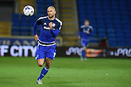 Matthew Connolly of Cardiff city in action. Skybet football league championship match, Cardiff city v Middlesbrough at the Cardiff city Stadium in Cardiff, South Wales  on Tuesday 20th October 2015.<br /> pic by  Andrew Orchard, Andrew Orchard sports photography.