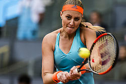 May 13, 2017 - Madrid, Madrid, Spain - KRISTINA MLADENOVIC (FRA) returns the ball to Simona Halep (ROU) in the final of the 'Mutua Madrid Open' 2017. Halep won 7:5, 6:7, 6:2 (Credit Image: © Matthias Oesterle via ZUMA Wire)