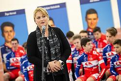 Petra Zumer of Triglav Avto during presentation of cycling club KK Adria Mobil before new season 2019, on February 14, 2019 in Velodrom Cesca vas, Novo mesto, Slovenia. Photo by Vid Ponikvar / Sportida